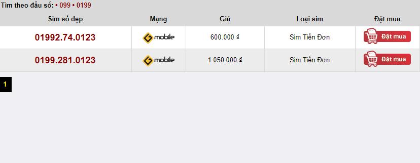 Những thông tin cần biết về sim tiến 0123 Gmobile